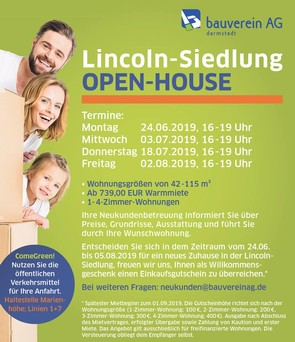 Lincoln-Siedlung: Open-House-Termine